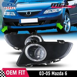 For Mazda 6 03 05 Factory Replacement Fit Fog Lights Wiring Kit Clear Lens