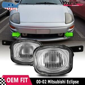 For Mitsubishi Eclipse 2000 2002 Factory Replacement Fit Fog Lights Clear Lens