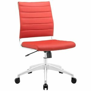 Hawthorne Collection Armless Office Chair In Red