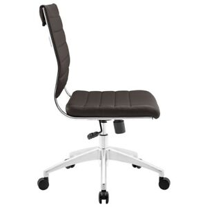 Hawthorne Collection Armless Office Chair In Brown