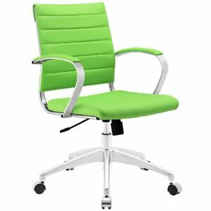 Hawthorne Collection Modern Mid Back Office Chair In Bright Green