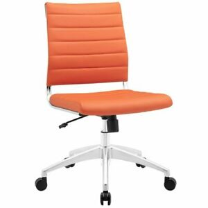 Hawthorne Collection Armless Office Chair In Orange