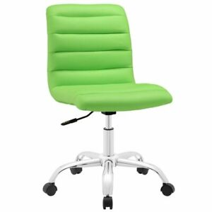 Hawthorne Collection Mid Back Armless Swivel Office Chair In Bright Green
