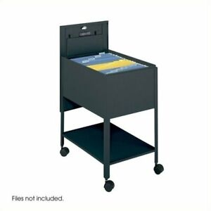 Scranton Co Extra Deep 1 Drawer Legal Mobile Metal Tub File With Lock In Black