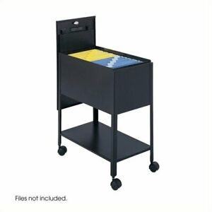 Scranton Co Extra Deep Mobile Letter Size Tub File With Lock In Black