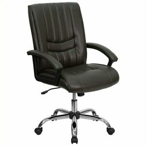 Scranton Co Mid Back Managers Office Chair In Espresso Brown