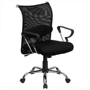 Scranton Co Mid Back Managers Office Chair In Black