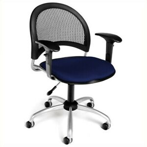 Scranton Co Swivel Office Chair With Arms In Navy