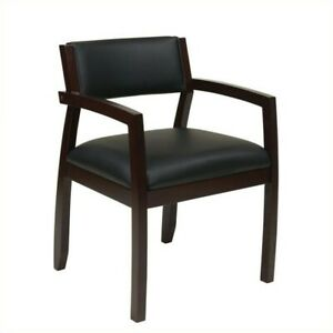 Scranton Co Guest Chair With Upholstered Back In Espresso