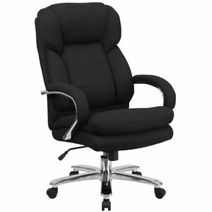 Scranton Co Big And Tall Fabric Swivel Office Chair In Black