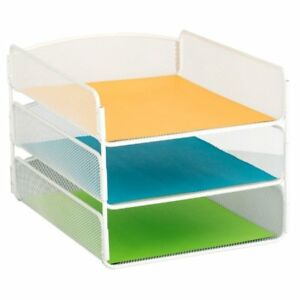 Scranton Co 3 Tray Desk Organizer In White