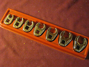 Snap on Tools 3 8 Drive 7pc Sae Flare Nut 6pt Crowfoot Wrench Set