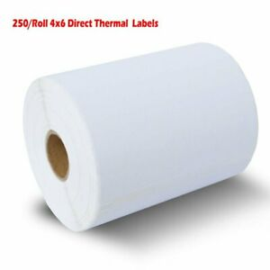 10 Rolls 250 roll 4x6 Direct Thermal Shipping Mailing Labels Zebra Eltron Usps