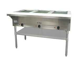 Commercial Kitchen 3 Bay Electric Steam Table 49