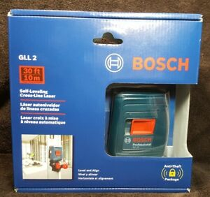 Bosch Professional Gll 2 Self leveling Cross line Laser Level W Clamping Mount