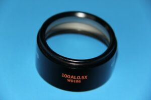 Olympus 100 Al 0 5x Auxiliary Lens For Stereo Microscope
