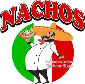 Nachos Decal choose Your Size Concession Food Truck Vinyl Sign Sticker
