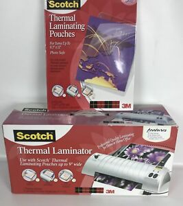 Scotch Thermal Laminator Tl901 With 50 pack Laminating Pouches Tp3854 50