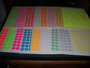 3424 3 4 Circle Blank Yard Sale Stickers Labels Price Tags Tabs 15 Color Sale