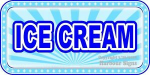 choose Your Size Ice Cream Decal Concession Food Truck Cart Vinyl Sticker