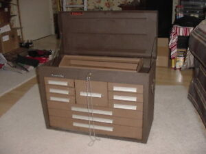 Kennedy 10 Drawer Steel Tool Chest 26 1 8 X12 1 8 X 18 7 8 Brown Used Usa