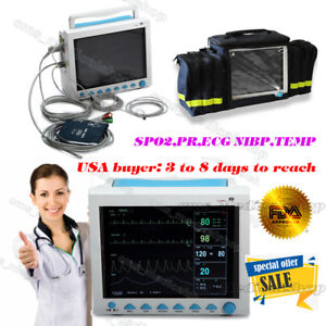 12 1 big Lcd Multi Parameter Icu Patient Monitor convenient Handbag