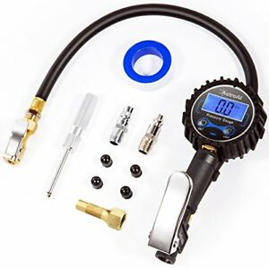 Digital Tire Inflator With Pressure Gauge 250 Psi Air Chuck And Compressor