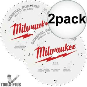 Milwaukee 48 40 1232 12 44t 80t Two Pack Circular Saw Blade New