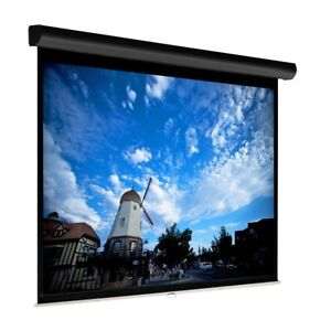 92 Manual Projector Screen Hd 16 9 Matte Self Locking Home Theater Projection