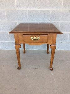 Ethan Allen Circa 1776 Edition Maple End Table Night Stand