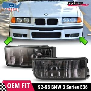 For Bmw 3 Series E36 M3 1992 1998 Factory Replacement Fit Fog Lights Smoke Lens