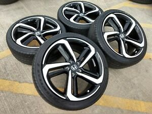 19 Honda Accord Sport Oem Wheels Rims Tire Black 64127 2018 2019 Civic H Rv