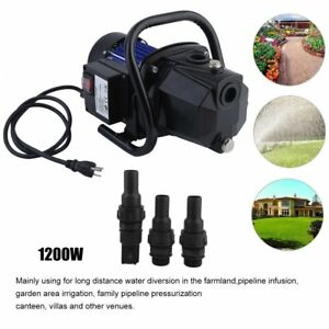 Water Booster Pump 1200w 1 Shallow Well Home Garden Irrigation 1000gph Draining