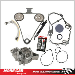 Timing Chain Kit Water Pump Cover Gasket Fit 00 08 Chevrolet Saturn 2 2l Ecotec