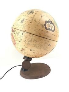 World Antique Spot Globe By Reader S Digest In Working Condition Lightup Globe