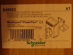 Schneider Square D S48903 400 2000 A Neutral Current Transformer W nct Wiring