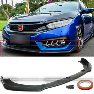 For 16 18 Honda Civic 10th 1 Piece Cs Style Front Bumper Lip Body Kit Spoiler