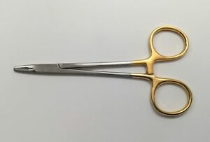 Straight Mayo hegar Needle Holding Forceps 5in Tungsten Carbide Surgical Grade