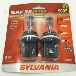 Sylvania Silverstar 9007 Ultra Night Vision Halogen Headlight Bulbs Pack Of 2