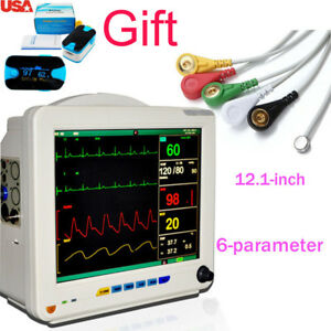 Patient Monitor 6 parameter Vital Sign Heart Rate Medical Machine Nibp Oximeter