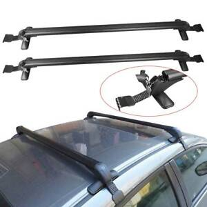 2pcs Universal Adjustable Car Top Roof Cross Bar Aluminum Luggage Carrier Rack