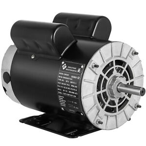 5hp Spl Compressor Electric Motor 1 Phase 3450 Rpm 56 Frame 5 8 Shaft 230v