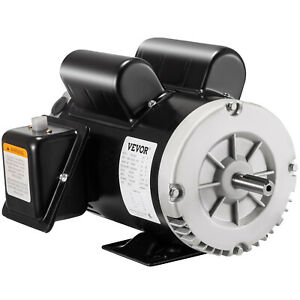 5 Hp Compressor Duty Electric Motor 1 Phase 3450 Rpm 56 Frame 7 8 Shaft 230v