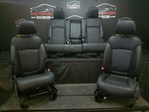 2013 Dodge Journey Front Rear Black Leather Power Seats Trim Code X9