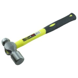 K Tool International 71732 32oz Ball Peen Hammer With Fiberglass Handle