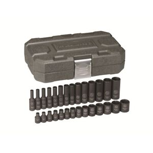 Gearwrench 84901 1 4 Drive 6 Point Metric Impact Socket 28 Piece Set