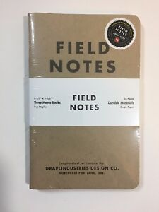 Field Notes 10th Anniversary Edition winter 2017 Sealed Notebook 3 pack