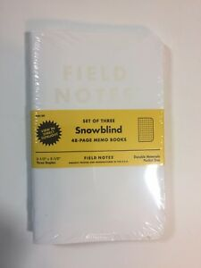 Field Notes Snowblind Edition winter 2015 Sealed Notebook 3 pack