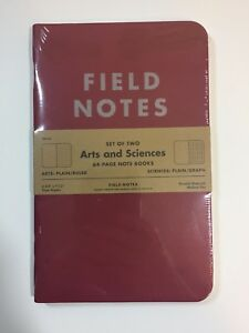 Field Notes Arts And Sciences Edition summer 2014 Sealed Notebook 2 pack