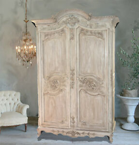 On Hold Antique French Armoire Entertainment Center Wardrobe Linen Closet